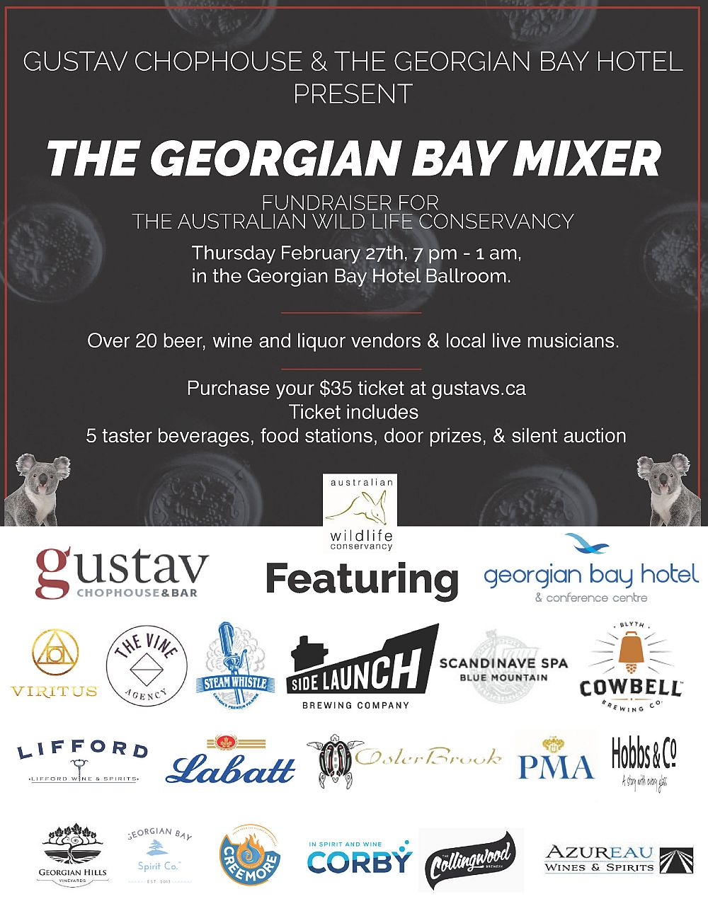 The Georgian Bay Mixer - at Gustavs - Thursday February 27th, 2020